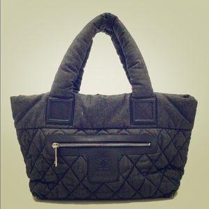 Chanel ltd Ed denim coco cocoon puffer bag card